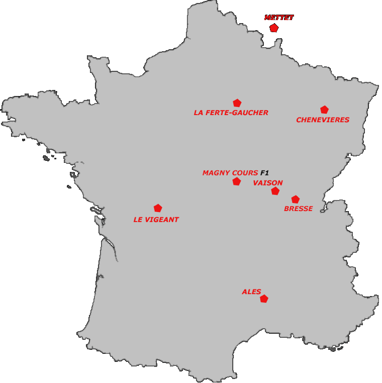 Carte des circuits de la de Radigues Rider School (2020)
