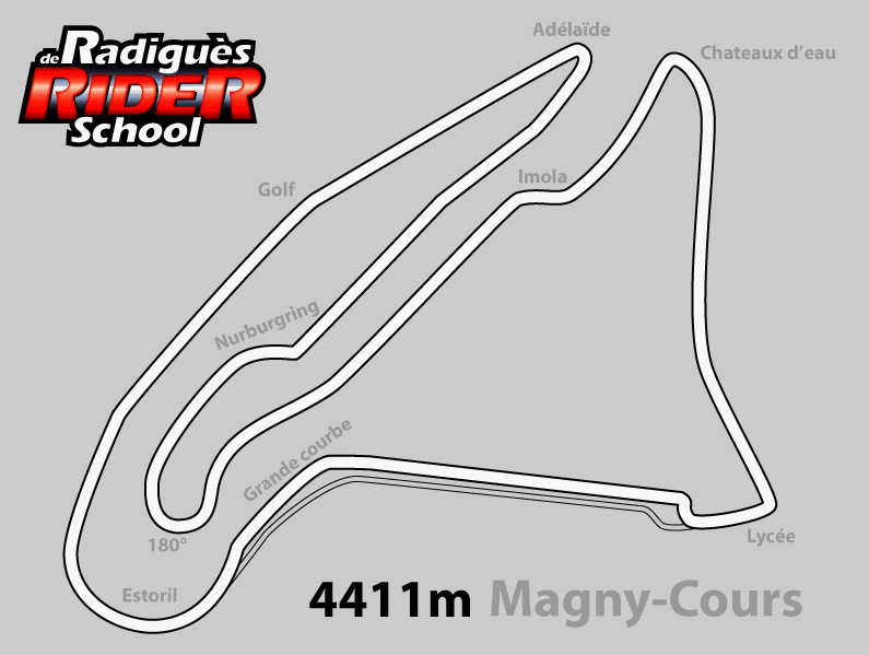 circuit de magny court pour moto en bourgogne de radigu s rider school. Black Bedroom Furniture Sets. Home Design Ideas